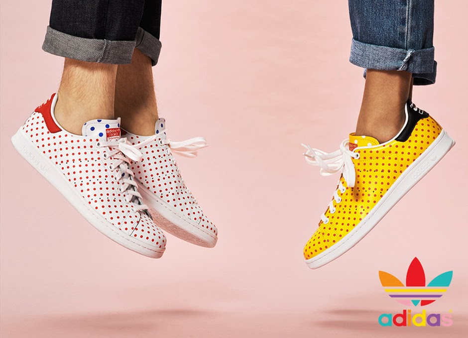 swag craze fashion friday adidas originals pharrell williams polka dot pack now available in. Black Bedroom Furniture Sets. Home Design Ideas