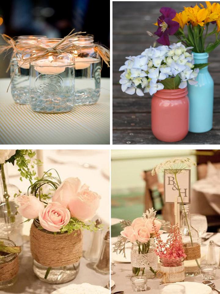 decoracao casamento garrafas de vidro: ~: Diferentes ideias para usar vidros e garrafas na decoração