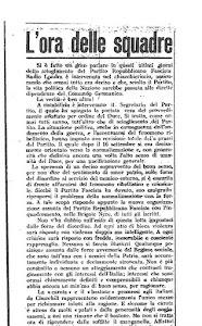 """Articolo di Franco Colombo, pubblicato sul nr 6 del giornale della Legione Muti """"Siam fatti così"""""""
