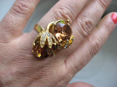 vintage topaz ring, vintage jewelry