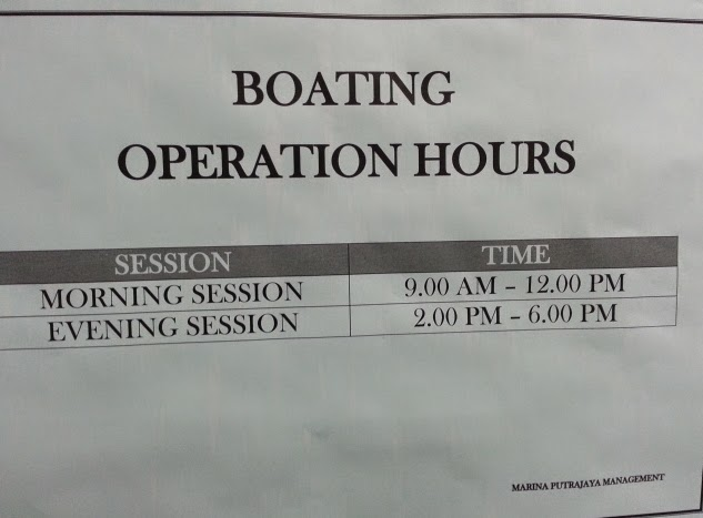 Boating operation hours
