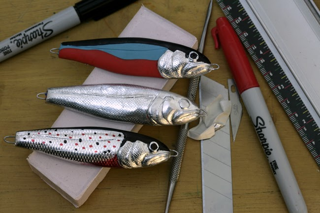 Homemade fishing lure blog foil and felt tips for Homemade fishing lures