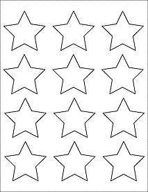 star-shaped labels from OnlineLabels.com