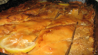 Our home-made baklava  sooo good!