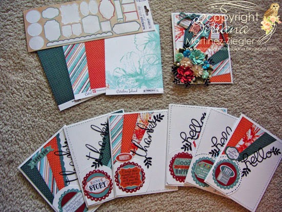 supplies for cards for mom using petaloo and quick quotes
