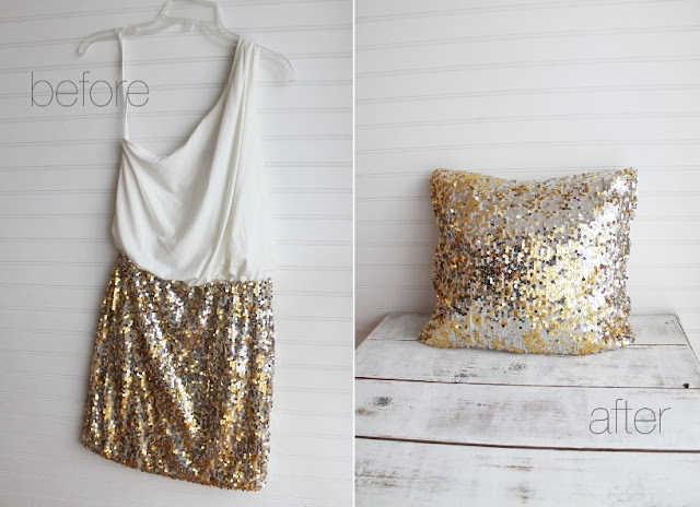 sequin pillow how to
