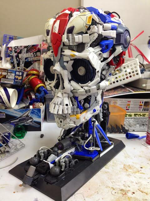skull gundam century bandai model kits