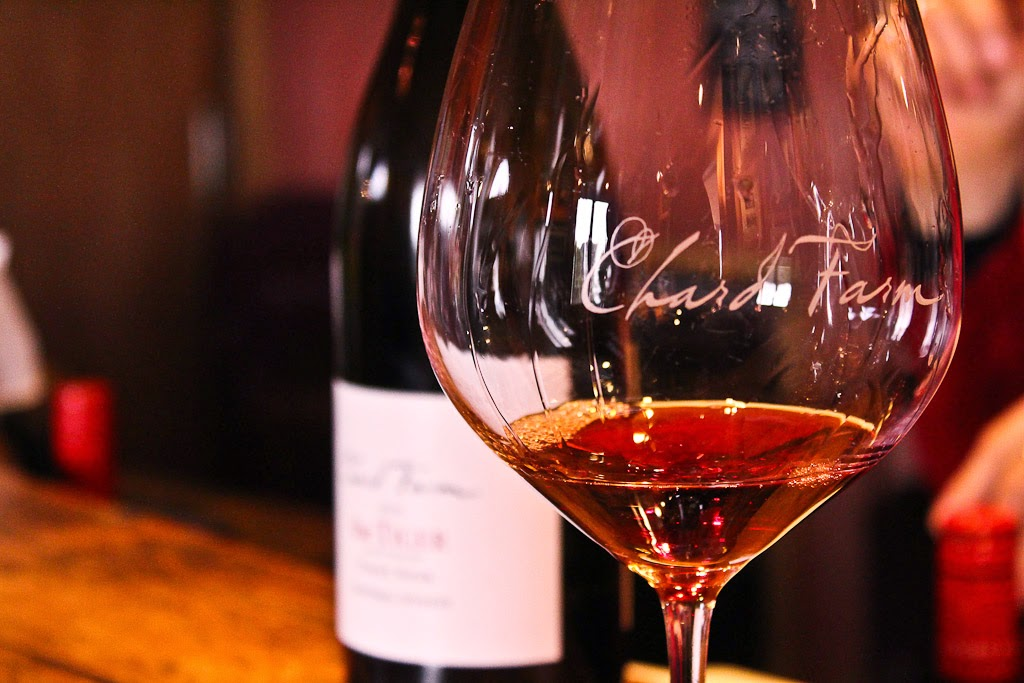 Chard Farm's Pinot Noir tasting.