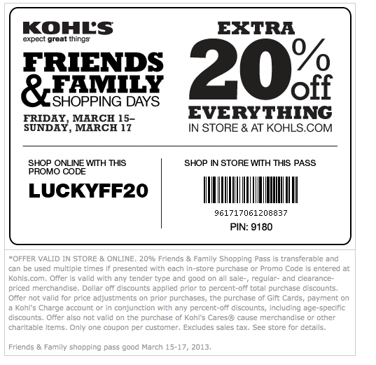 Coupon codes for kohls free shipping