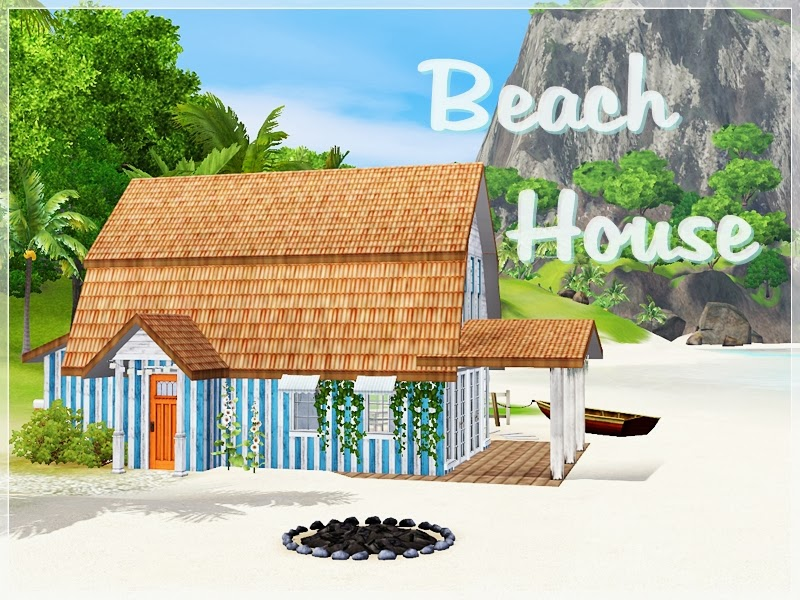 My sims 3 blog beach house by simsplification for Beach house plans sims 3