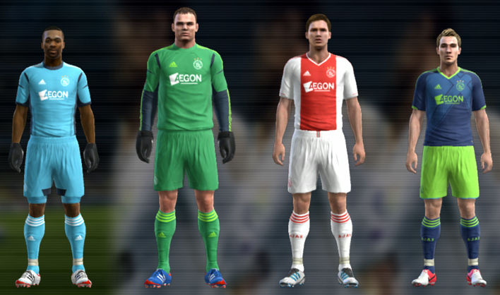 PES 2012 Ajax 12 13 Kit Set by TheNamesJER