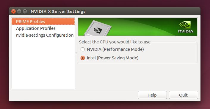 Ubuntu 14.04 nvidia-prime