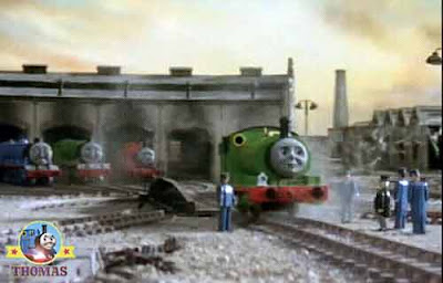 Thomas 7 friends Gordon the express Henry tank and James the splendid engine Percy the green train