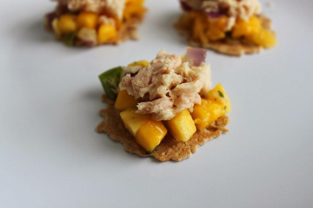 Mango Tuna Bites