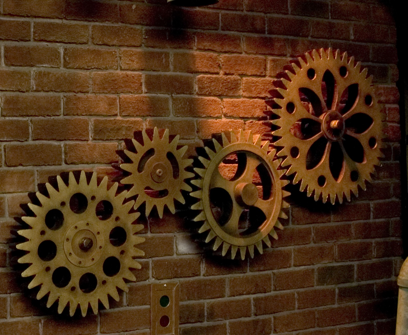 Wall Decor Gears : The art of faking it stage design themed rooms props