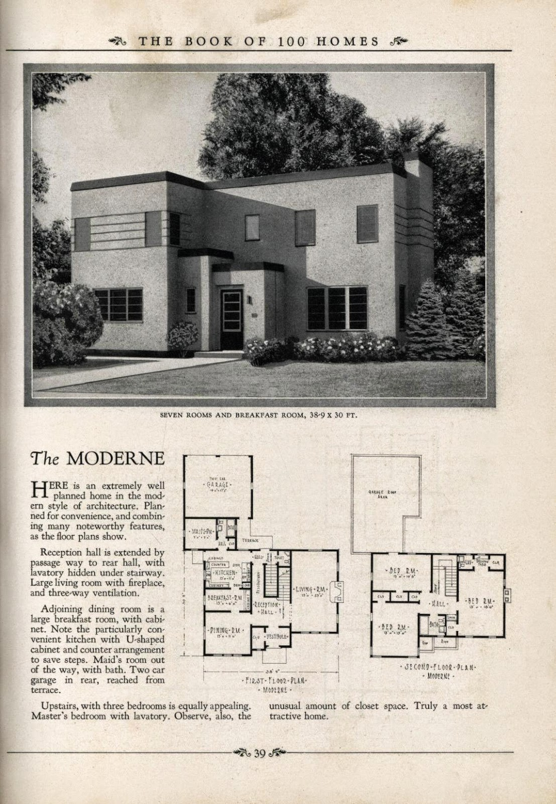 art deco house plans art deco resource ForArt Deco House Plans