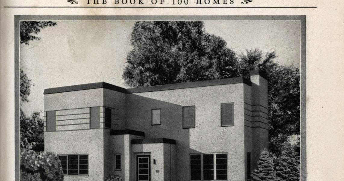 Art deco resource art deco house plans for Art deco house plans