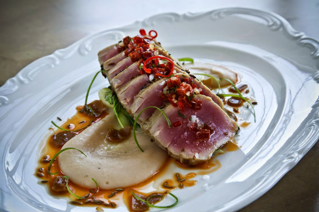 One of Asia de Cuba Abu Dhabi's specialities... the Seared Tuna
