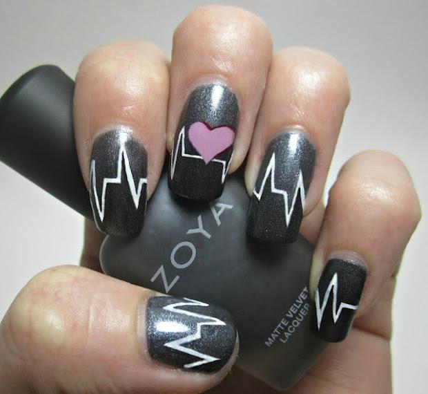 nail art heart design fashionate