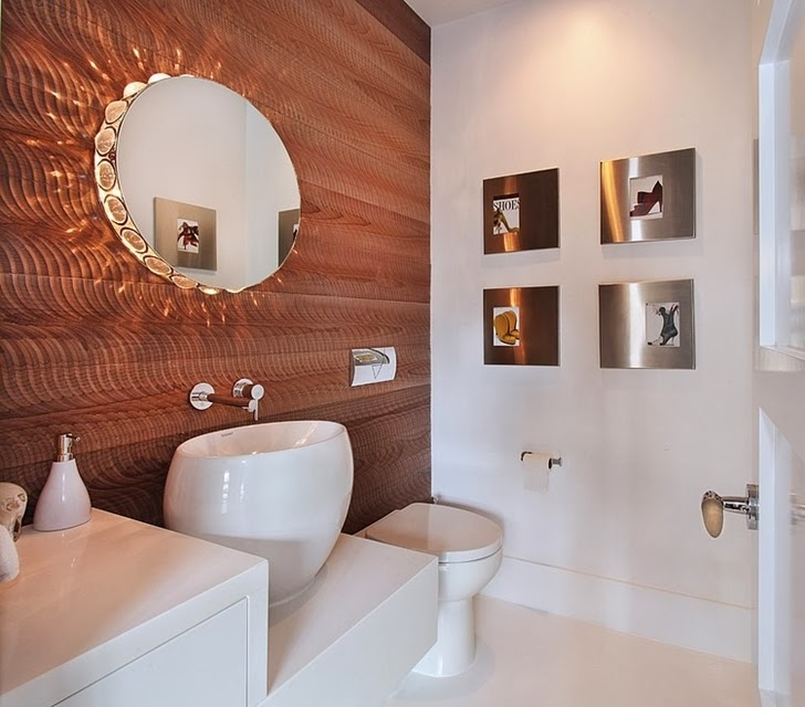 Bathroom in Incredible 604 Acacia House by Brandon Architects