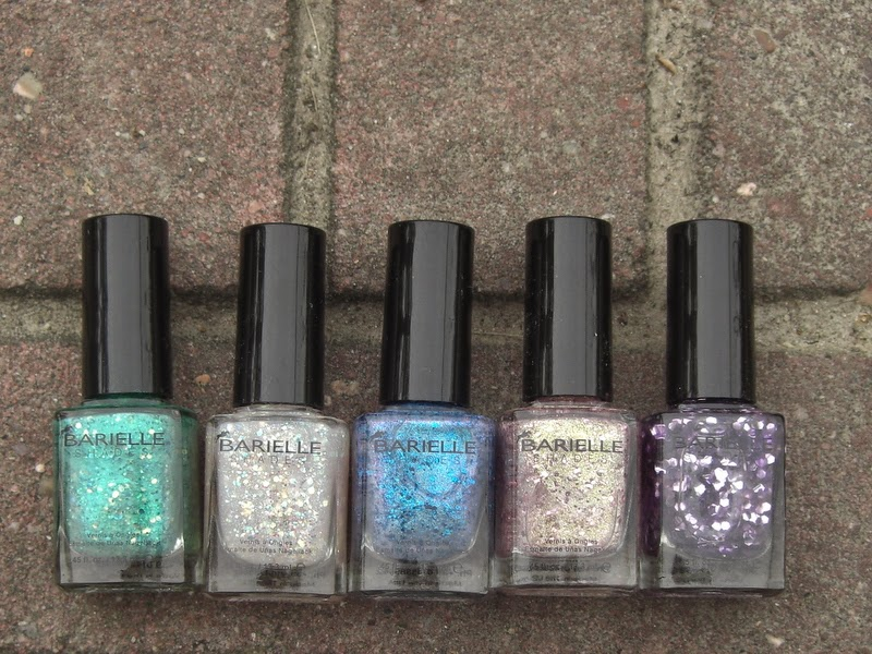 Barielle Bling It On Collection, Barielle Sea Urchin, Barielle Angel Dust, Barielle Shooting Star, Barielle Golden Halo, Barielle Amethyst