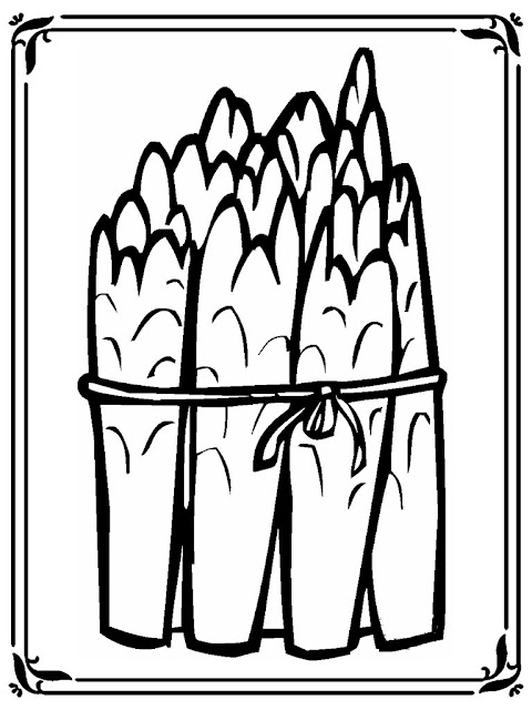 asparagus coloring sheet