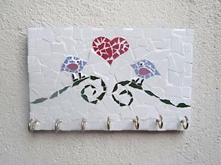 Porta Chaves de mosaico de azulejo