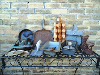 Vintage tools and pans www.thriftyrebel.com