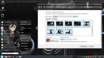 Windows 7 Theme Sword Art Online Kirito Edition