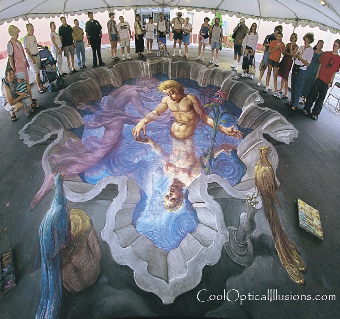 Amazing 3D Sidewalk Chalk Art