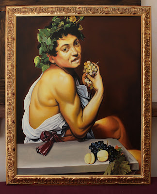 Young sick bacchus (Caravaggio) - oil painting reproduction by Marcello Barenghi
