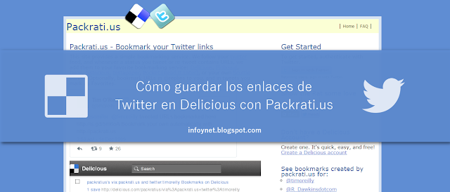 Cómo guardar los enlaces de Twitter en Delicious con Packrati.us