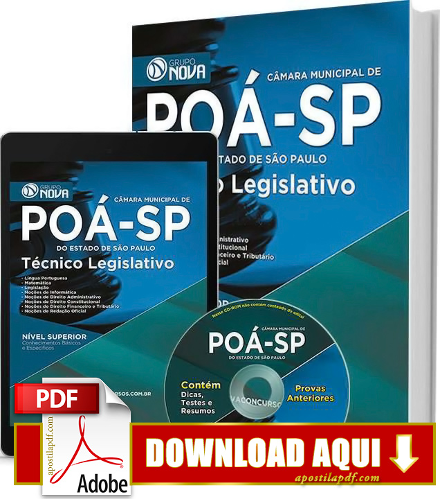 Apostila Técnico Legislativo Poá 2015 PDF Download Grátis