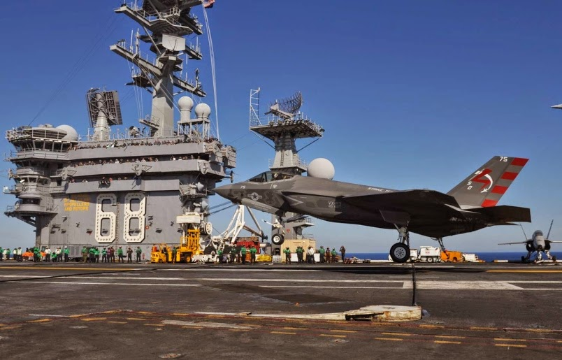 F-35C on  USS Nimitz