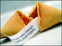 Fortune cookie biscuit chinois