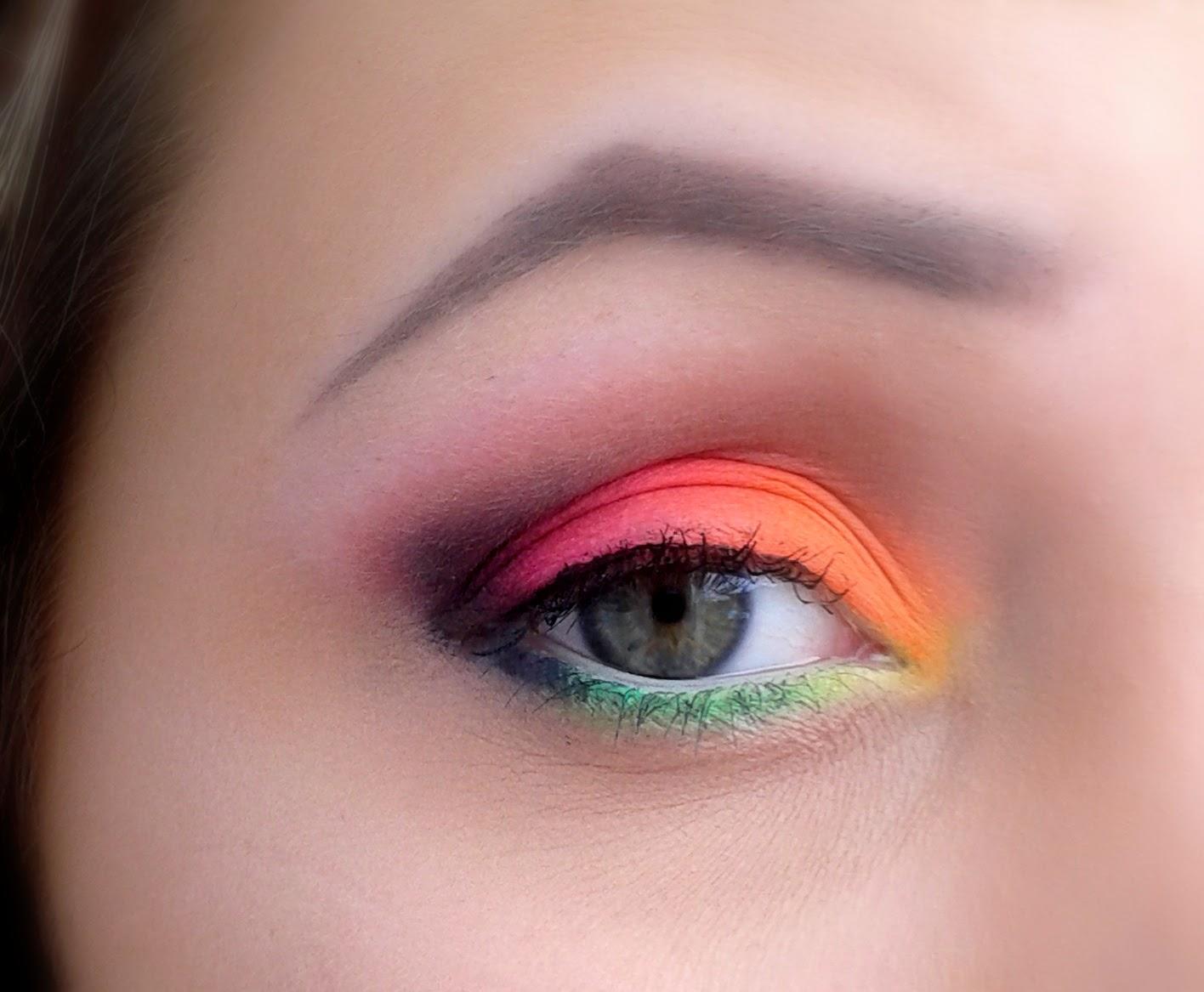 Szalony dzienniak, czyli neonowy makijaż ze Sleek Acid! :)