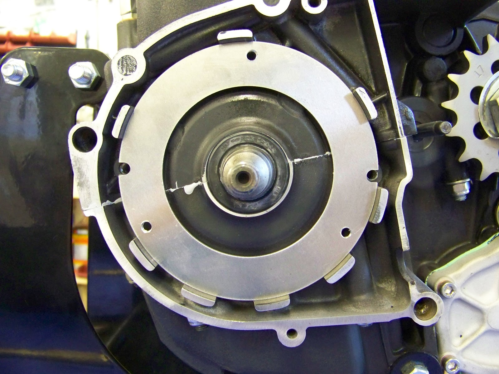 How To Install Your Hughs Handbuilt Pma System On Xs650 1980 Cdi Wiring Diagram Just Like In The Picture Above Youll Want Notches Plate Line Up With Threaded Bosses Engine Cases Then Make Sure