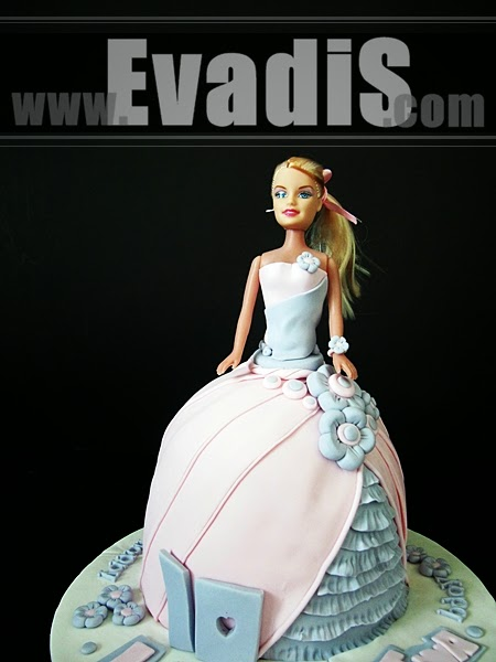 Closer View of Barbie Cake