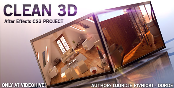 videohive clean 3d - adobe after effect template - .:after effect, Powerpoint templates