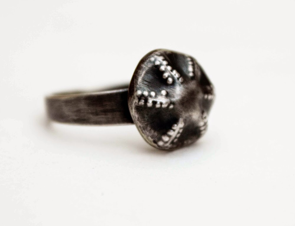 Urchin silver ring