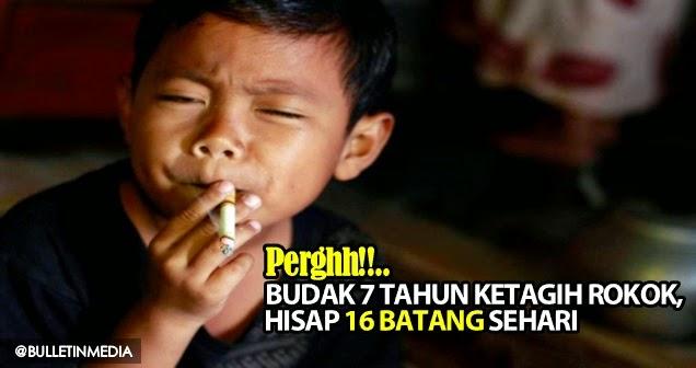 Perghh Budak 7 Tahun Ketagih Rokok Hisap 16 Batang Sehari