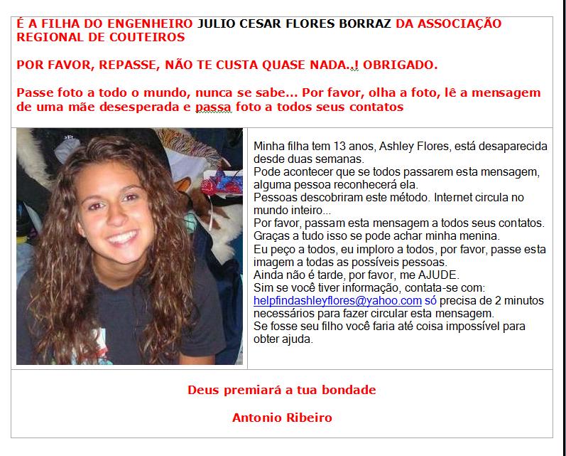 Ashley Flores portugues