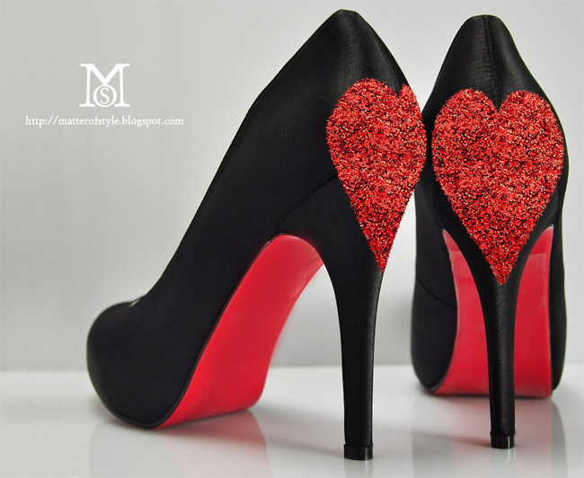 Valentineu0027s Day Love Shoes DIY With Glitter Hearts