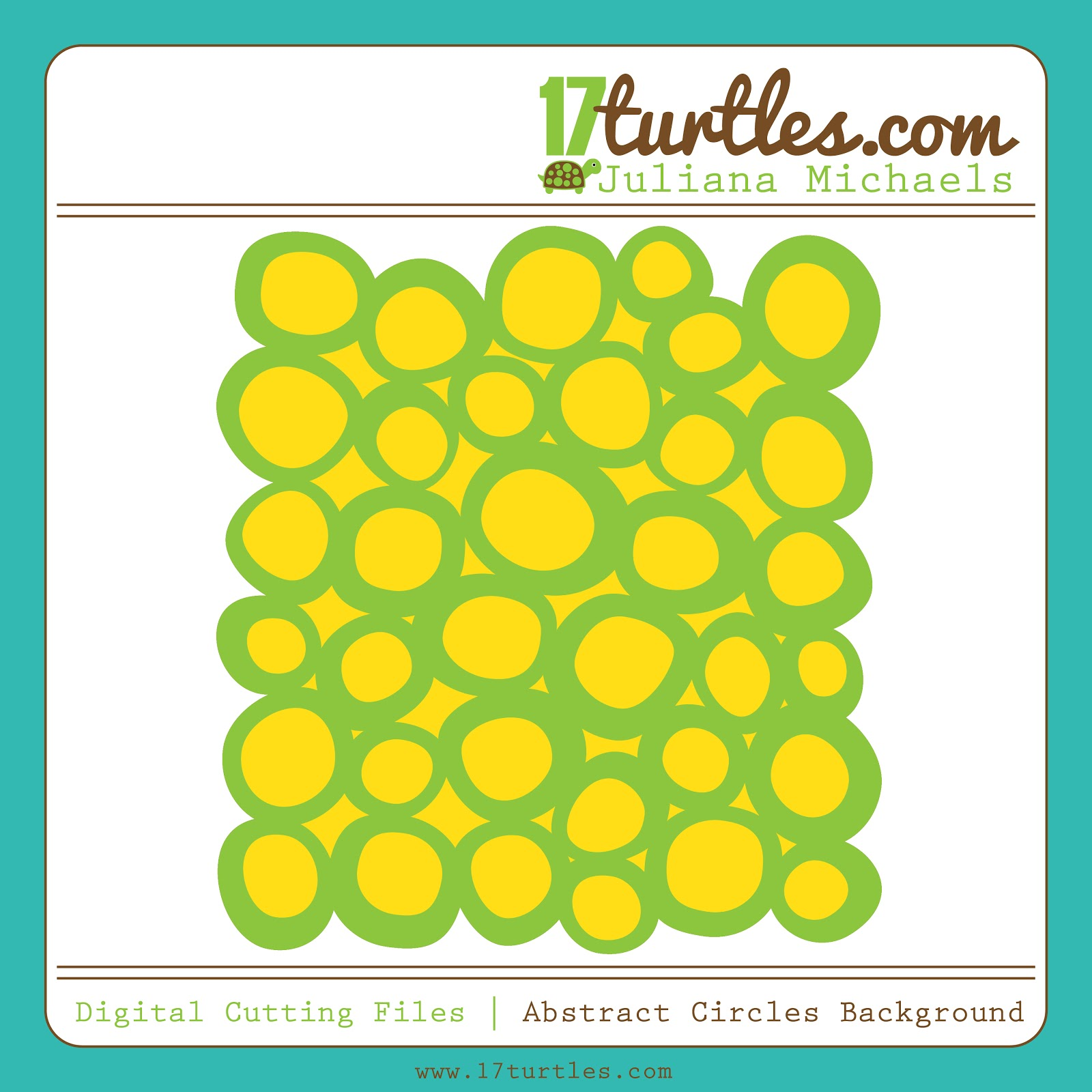 Abstract Circles Background FREE Digital Cut File by Juliana Michaels 17turtles.com