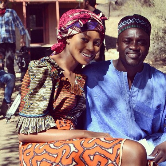 Beautiful Pictures from Yvonne Nelson Movie featuring Akon, Djimon Housou and Others chiomaandy.com