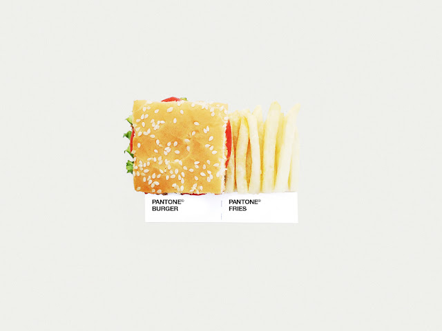 food art pairings david schwen, david schwen designer dschwen, graphic designer new york, pantone food, burger and fries