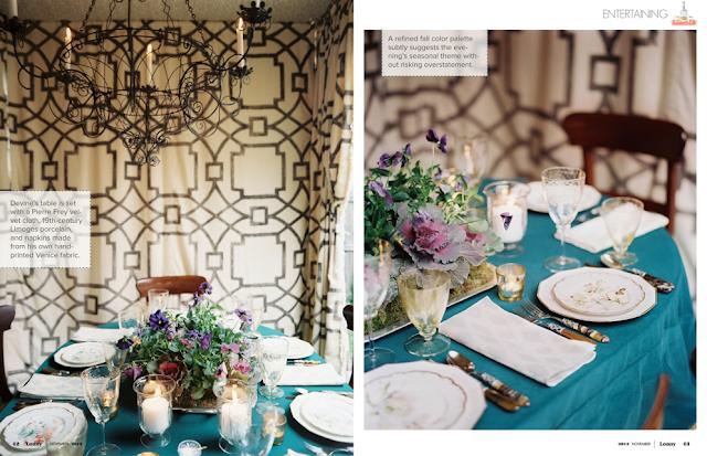 mesa con flores vintage