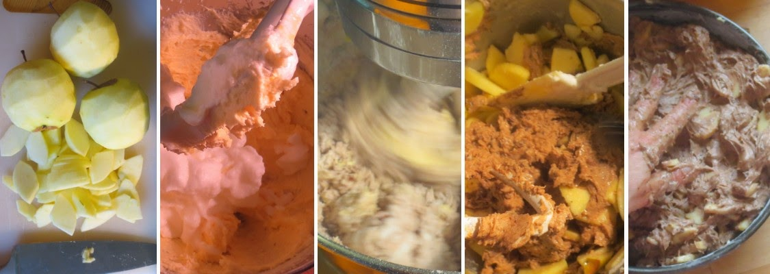 Zubereitung Russischer Apfelkuchen (Schoko-Apfelkuchen mit Wodka)