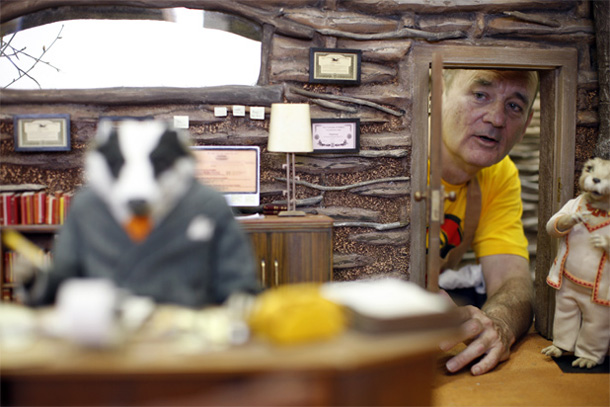 "Bill Murray em ""Fantastic Mr. Fox"""