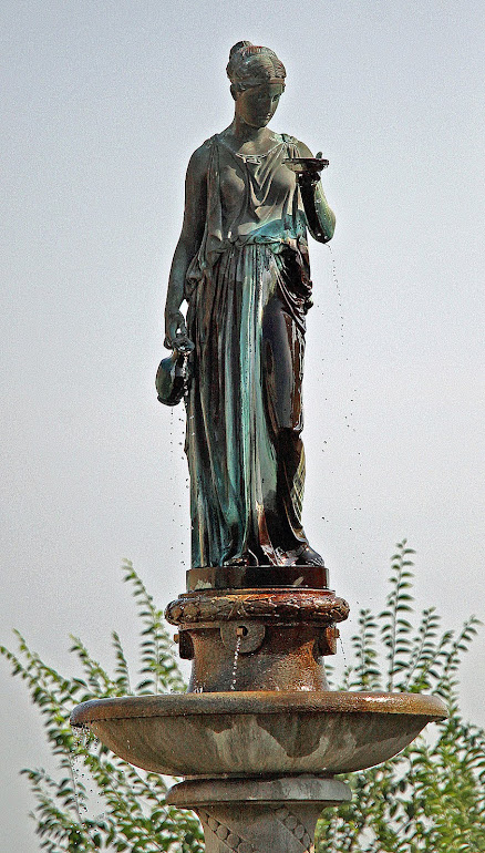 Statue of Hebe atop Bloom Fountain, Vicksburg